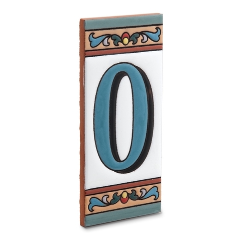Керамическая табличка с цифрой ноль