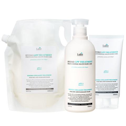 Протеиновая восстанавливающая маска для сухих и поврежденных волос с коллагеном Lador Eco Hydro LPP Treatment