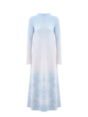 Женское платье мультиколор из кашемира и вискозы - фото 1