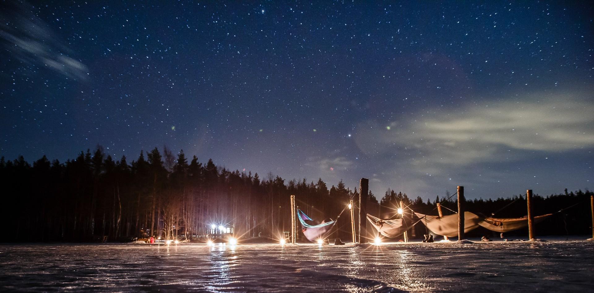 Ночь в лагере гамаков.