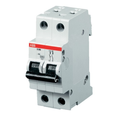 Автомат.выкл-ль 2-полюсной S202 K2