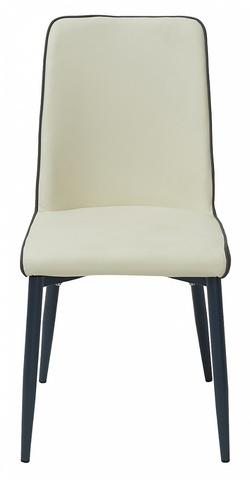 Стул SOFT cream 614/ grey 645 кремовый/серый М-City (обеденный, кухонный, для гостиной), Материал каркаса: Металл, Цвет каркаса: Серый, Материал сиденья: Экокожа, Цвет сиденья: Кремовый, Цвет: Серый