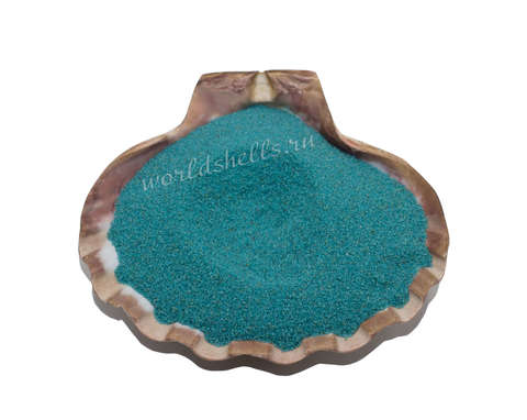 Бирюзовый кварцевый песок 1 кг.