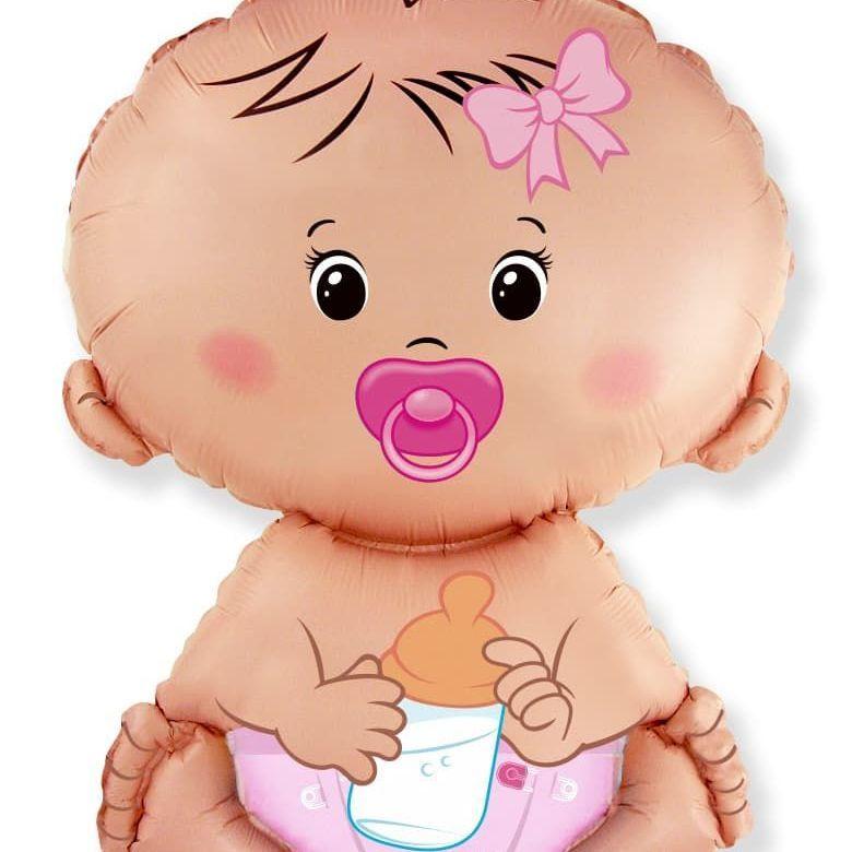 Фольгированный шар «Малышка девочка», 66 см