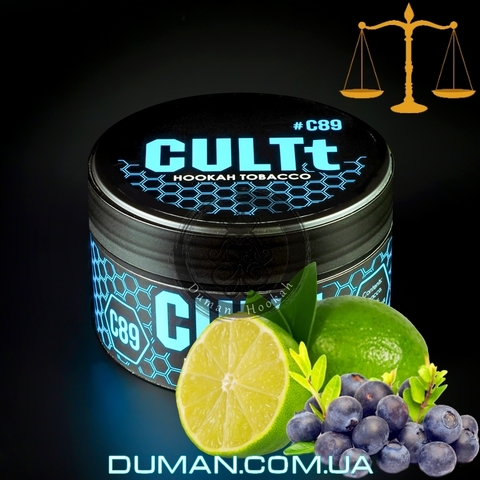 Табак CULTt C89 Blueberry Lime (Культ Голубика Лайм) |На вес 25г