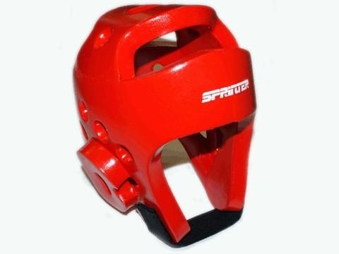 Шлем для тхеквондо. Размер XL. Цвет красный. :(ZTT-002К-XL):