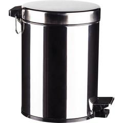 Ведро для мусора с педалью 5 л нержавеющая сталь (20.5х28 см)