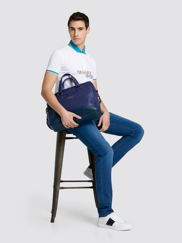Trussardi Jeans Поло на пуговицах