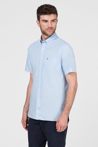 Мужская голубая рубашка STRETCH POPLIN Tommy Hilfiger