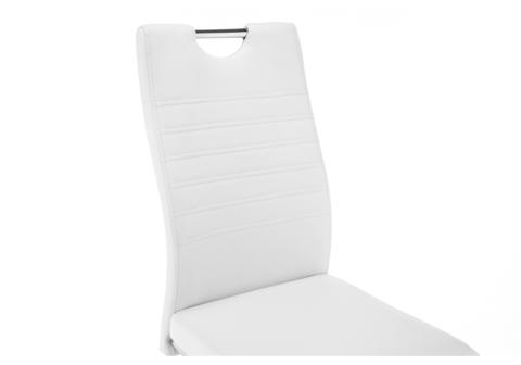 Стул кухонный, обеденный, для гостиной, металлический Tur белый 43*43*98 Хромированный металл /Белый