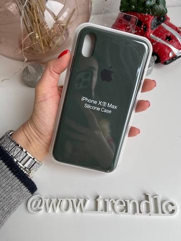 Чехол iPhone XS Max Silicone Case Full /cyprus green/