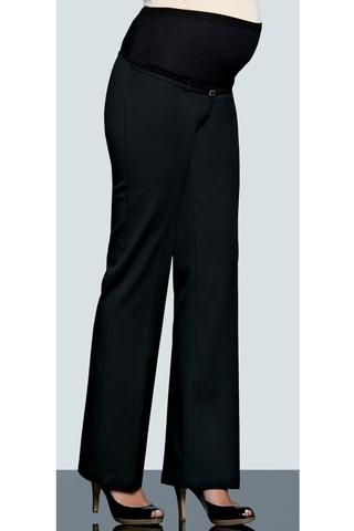 Утепленные брюки для беременных 02706 черный