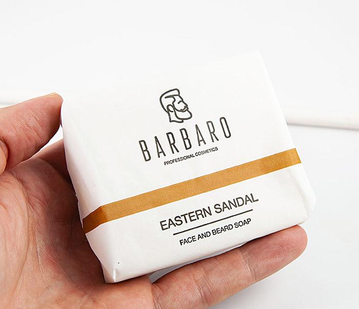 RAZ1012 Матирующее мыло для лица и бороды «Barbaro Eastern sandal» (90 гр) фото 04