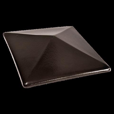 Колпак для столбов забора King Klinker, Ониксовый черный (17) Onyx black, 310x310x80