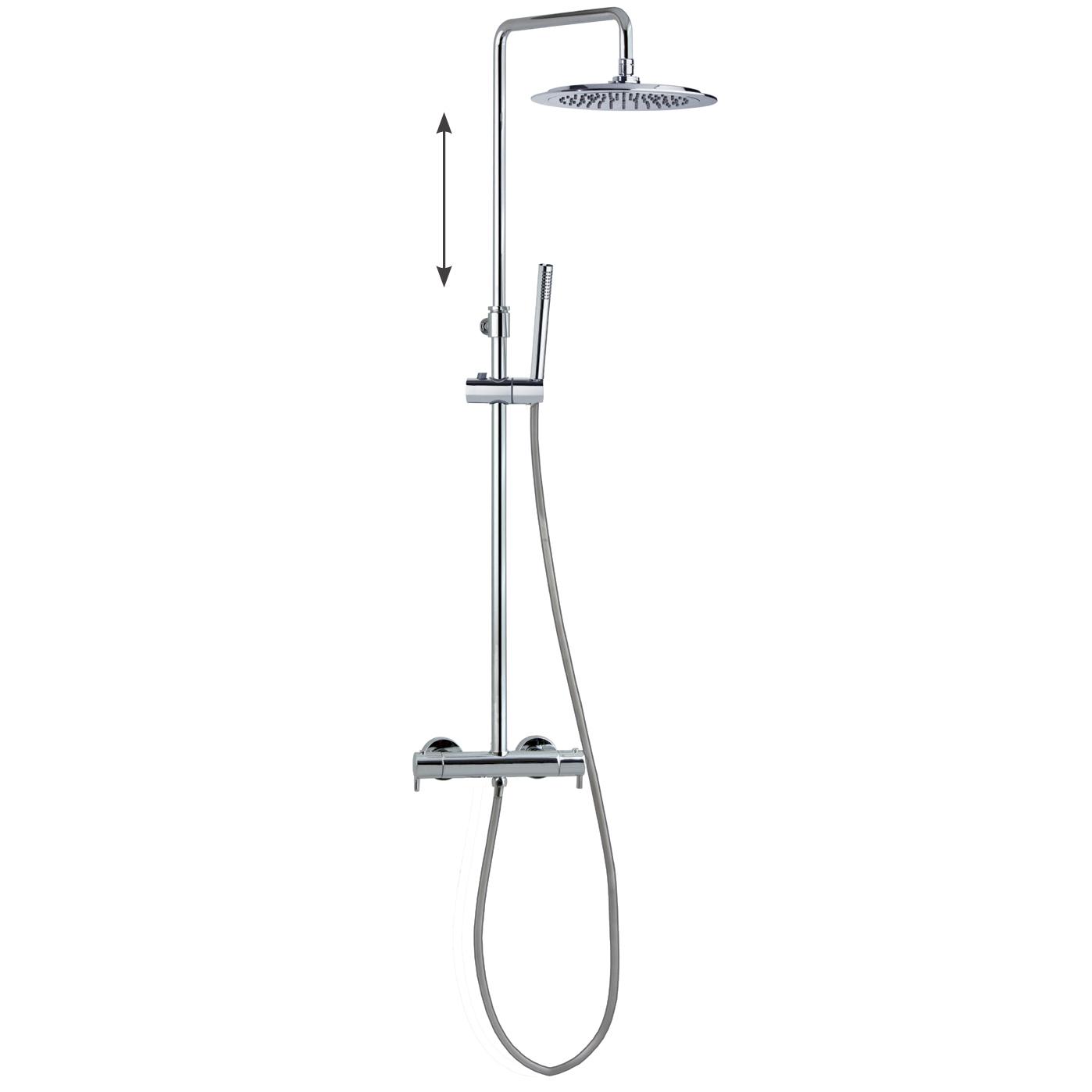 Душевая система с термостатом и тропическим душем для ванны DRAKO 335403RP300