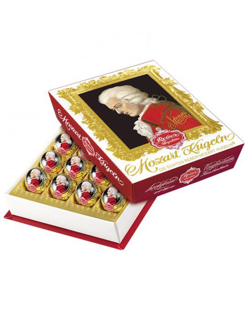 Шоколадные конфеты Reber с горьким шоколадом в подарочной упаковке, 400 гр.