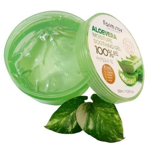 FarmStay Aloe Vera Moisture Soothing Gel многофункциональный смягчающий гель с экстрактом алоэ