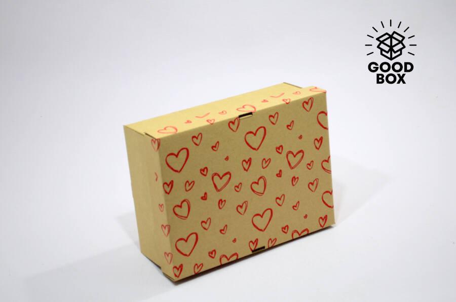 Подарочная коробка с сердечками купить в Алматы