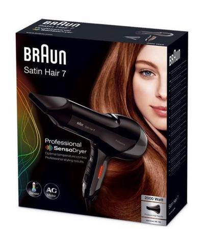 Фен Braun Satin Hair 7 SensoDryer HD780, 2000 Вт, черный