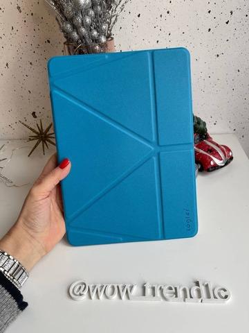 Чехол iPad 12,9 (2020) Origami Case Leather pencil groove /blue/