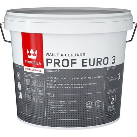 Tikkurila Prof Euro 3/Тиккурила Проф Евро 3 суперукрывистая моющаяся интерьерная краска