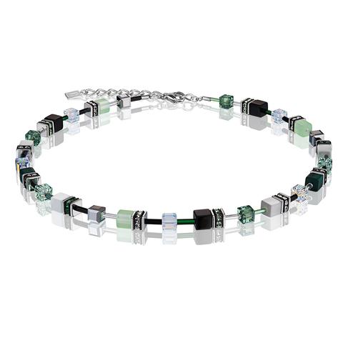 Колье Coeur de Lion 2838/10-0536 цвет серый, зелёный, чёрный