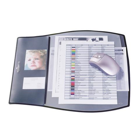 Коврик на стол Durable (390х440 мм, черный, мягкий пластик, 3 верхних слоя)