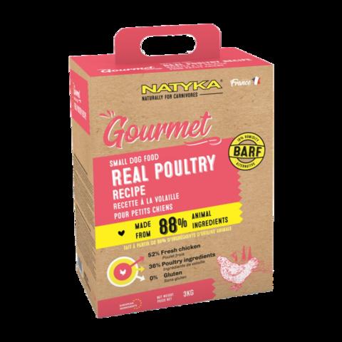 Natyka Gourmet Dog Adult Small Dogs Poultry Сухой корм для собак мелких пород с птицей