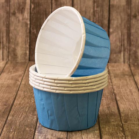 Капсулы для капкейков усиленные, светло-голубые ,20шт,50*40мм