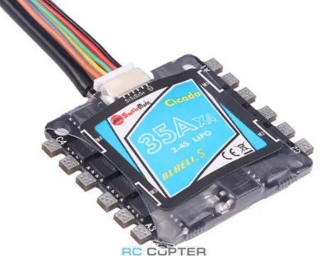 ESC регулятор мотора Sunrise Cicada BLHeli-S 35A 4в1 2-4S BB2 MCU