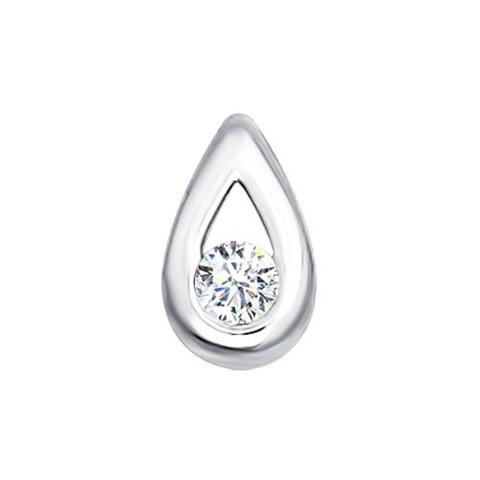 1030440- Подвеска-капелька из белого золота с бриллиантом