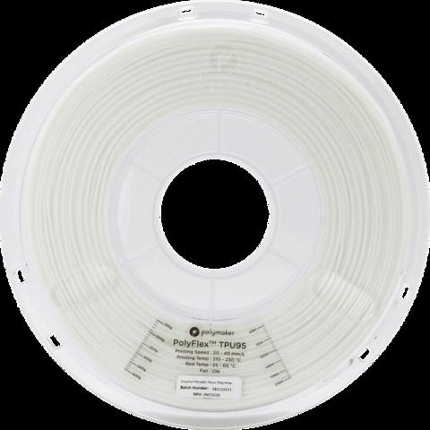PolyMaker PolyFlex, 1.75 мм, 0,75кг, Белый