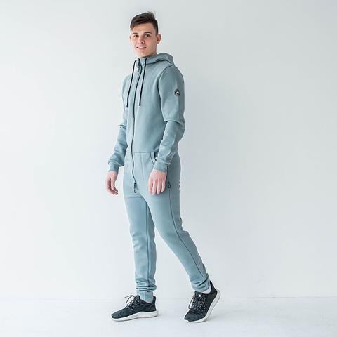 Warm jumpsuit for men - Gray