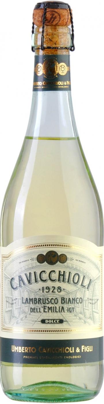 Вино игристое Кавиккьоли Ламбруско белое полусладкое 0,75л