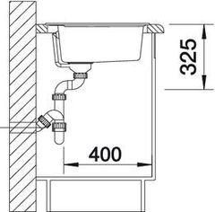 Мойка кухонная Blanco Rondoval 45 - вид сбоку