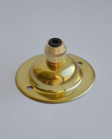 Чашка потолочная латунная, с зажимом (Золото)