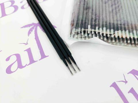 Микробраши для ресниц S - 1,2 мм (черные), 100 шт