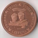 K9585, 2003, Литва, 2 евроцента Проба Образец Spesimen