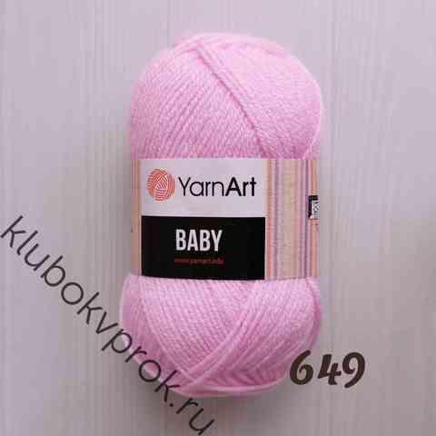 YARNART BABY 649, Светлый розовый