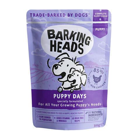купить паучи Barking Heads Щенячьи деньки с курицей 300 грамм