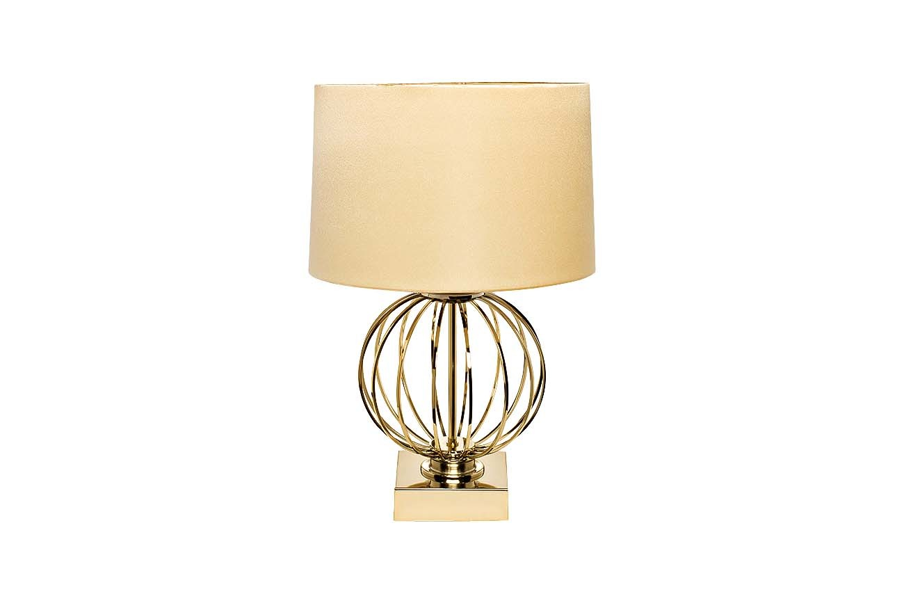 22-86949 Лампа настольная плафон золотистый d40*70см