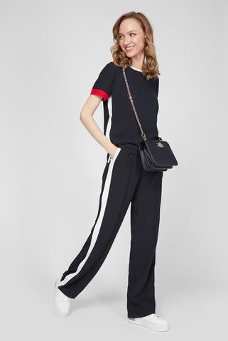 Женские темно-синие брюки FLUID CREPE STRAIGHT LEG PANT Tommy Hilfiger