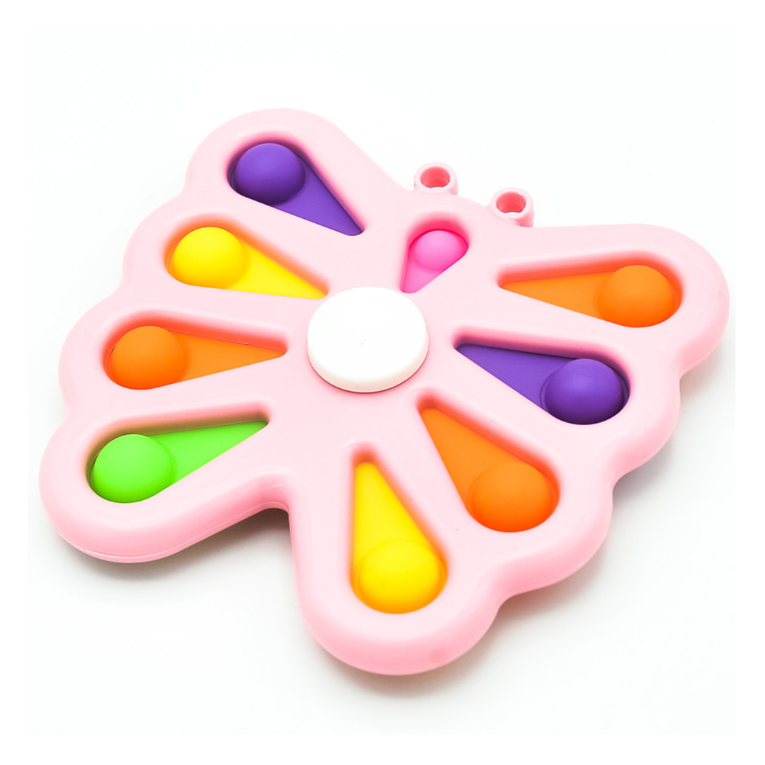 Пупырка вечная антистресс simple dimple (симпл димпл) бабочка большая розовая