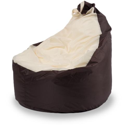 Пуффбери Внешний чехол Кресло-мешок комфорт  145x90x90, Оксфорд Коричневый и бежевый
