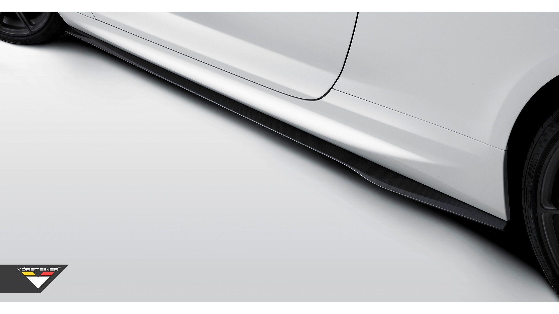 Карбоновые лезвия на пороги Vorsteiner Style для BMW M6