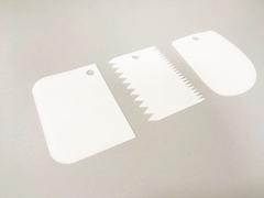 Набор скребков фигурных-2, пластик (3 шт.)