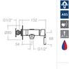 Гигиенический душ с магнитным клапаном перекрытия ATICA 756801S - фото №2
