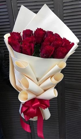 Букет из 25 эквадорских красных роз 70 см #41970