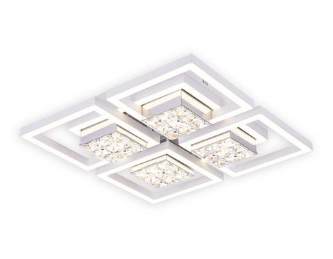 Потолочный светодиодный светильник с пультом FA118/4 WH белый 124W 480*480*110 (ПДУ РАДИО 2.4)
