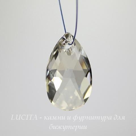 6106 Подвеска Сваровски Капля Crystal Silver Shade (28 мм)